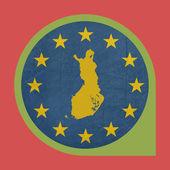 European Union Finland marker pin button — Stock Photo
