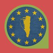 European Union Gibraltar marker pin button — Stock Photo