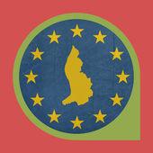 European Union Liechtenstein marker button — Stock Photo