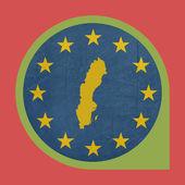 European Union Sweden marker button — Stock Photo