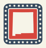 New Mexico American state button — Stock Photo