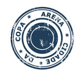 Arena Cidade da Copa stadium stamp — Stock Photo