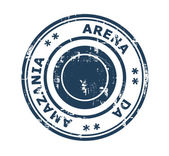 Arena da Amazania stadium stamp — Stock Photo