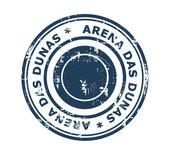 Arena das Dunas stadium stamp — Foto Stock