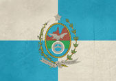 Grunge Rio De Janeiro state flag — Photo
