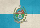 Grunge Rio De Janeiro state flag — Zdjęcie stockowe