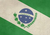 Grunge state flag of Parana in Brazil — Stock Photo
