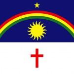 State flag of Pernambuco in Brazil — Stock Photo