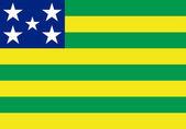 State flag of Goias in Brazil — Stock Photo