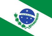 State flag of Parana in Brazil — Stock Photo