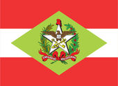 State flag of Santa Catarina in Brazil — Stock Photo