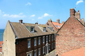 Whitby town houses — Stock Photo