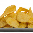 Jagged snack in grey dish - Stock Photo