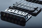 Detail of electric guitar — Zdjęcie stockowe