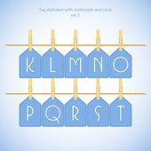 Blue alphabet set vol.2 — Stock Vector