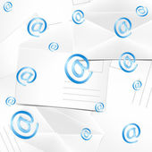 Abstract background with envelopes and at — 图库矢量图片