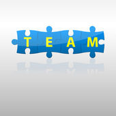 Blue team puzzle — Stock Vector