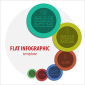 Modern flat colorful infographic — Stock Vector