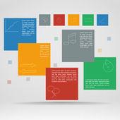 Vector template of infographics — Stok Vektör