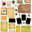 A set of scrap elements, picture frames, photo edges — Stock Photo