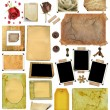 Stock Photo: A set of scrap elements, picture frames, photo edges