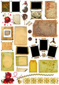 A set of scrap elements, picture frames, photo edges — Foto Stock