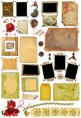 A set of scrap elements, picture frames, photo edges — Stock Photo