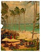 Stay on the beach. Retro design — Stock Photo