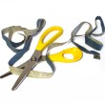 Scissors and measuring tape — Stock Photo