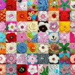 A large collection of hand-knitted items — Stock Photo