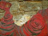 抽象 grunge 的纹理背景与玫瑰 — 图库照片