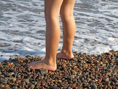 Disease prevention feet, flat feet — Stock Photo