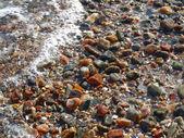 Seixos molhados de granito — Foto Stock