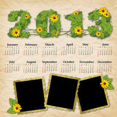 Vintage calendar 2013 — Stock Photo