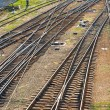 Railroad tracks. Top view. — Stock Photo