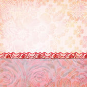 Border of roses and lace. Background for the photo book — Stock Photo