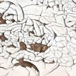 Stock Photo: White cracked paint