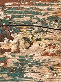 Pintura rachada na placa de madeira — Foto Stock