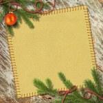 Christmas tree, and retro framework — Stock Photo #6323057