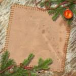 Christmas tree, and retro framework — Stock Photo #6323064