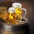 nature morte avec de la bière — Photo