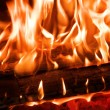 Royalty-Free Stock Photo: Fire in fireplace