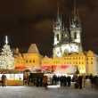 Winter prague - Stock Photo