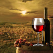 Still life with red wine — Stock Photo