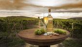 Nature morte avec vin blanc — Photo