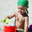 Boy playing on the beach — Stock Photo #12704085