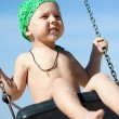 Boy swinging — Stock Photo #12704094