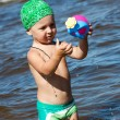 Young boy have fun in water at seay — Stock Photo #12704108