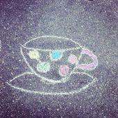 Шаблон Кубок кофе — Стоковое фото