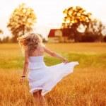 Girl having fun — Stock Photo